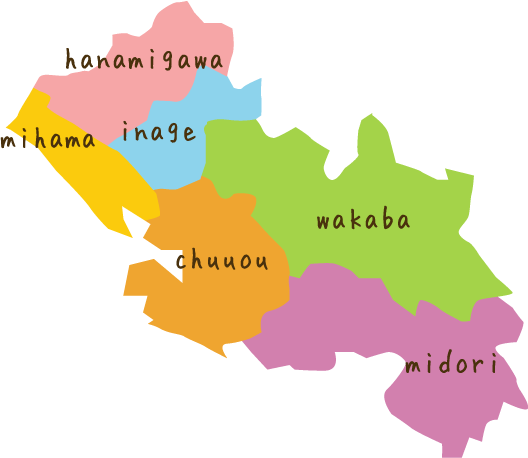 千葉市のマップ